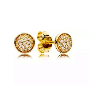 PANDORA Dazzling Droplets Earring Studs 14K Gold